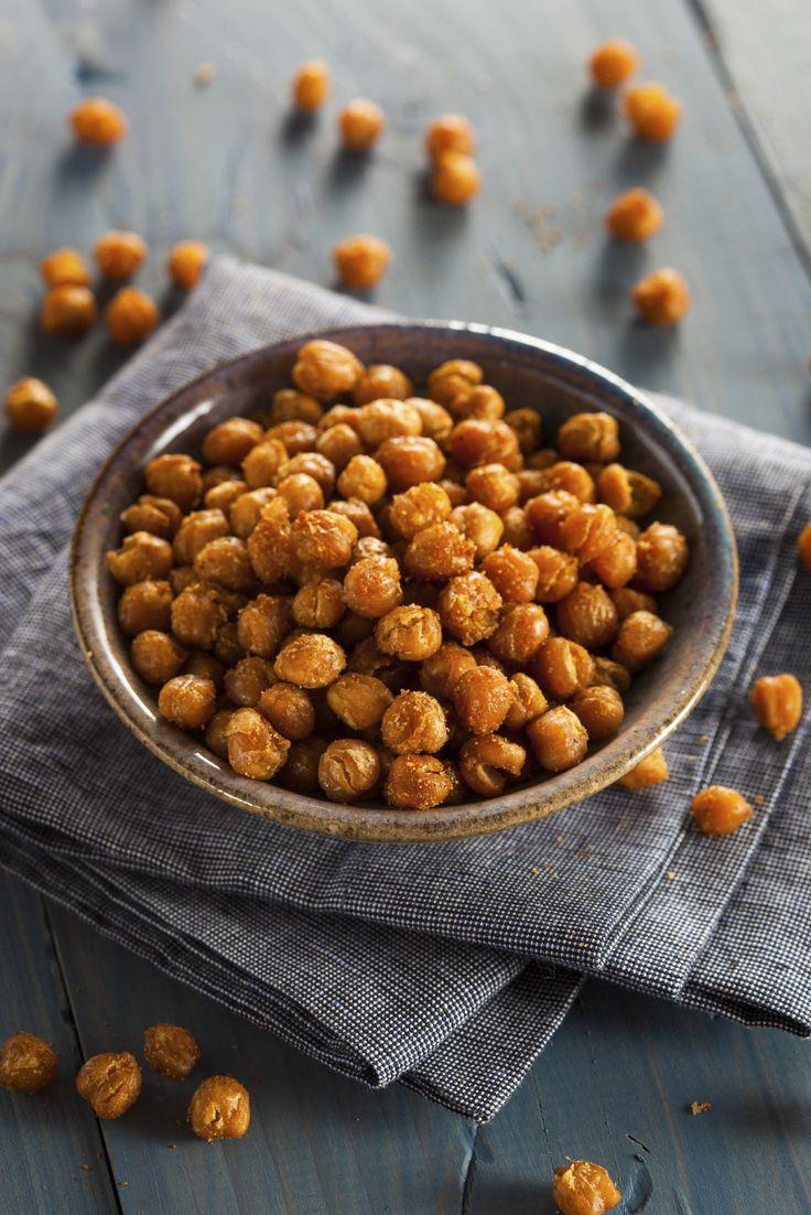 Skinny Recipe: Pizza Nuts (Parmesan Roasted Chickpeas) #superbowl