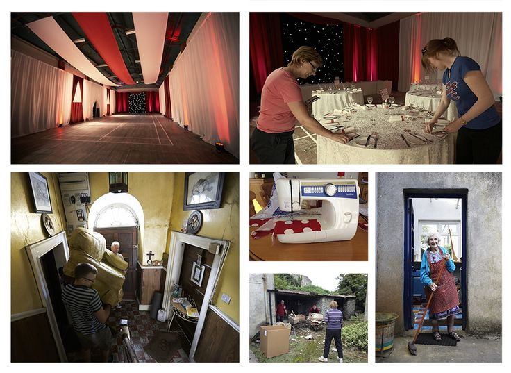 Behind the scenes photographs. Irish Marquee weddings photographed by Couple Photography.