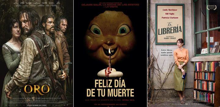 Estrenos de cine (Semana 10 de Noviembre) - Oro, Feliz día de tu muerte etc. #estrenos #cine