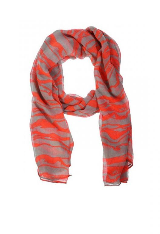 Amust Wave scarf coral