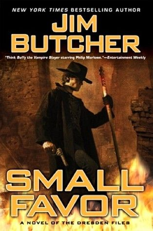 Small Favor by Jim Butcher. No one's tried to kill Harry Dresden for almost an entire year, and his life finally seems to be calming down. For once, the future looks fairly bright. But the past casts one hell of a long shadow.    An old bargain has placed Harry in debt to Mab, monarch of the Winter Court of the Sidhe, the Queen of Air and Darkness-and she's calling in her marker. It's a small favor he can't refuse...one that will trap Harry Dresden between a nightmarish foe and an equally…