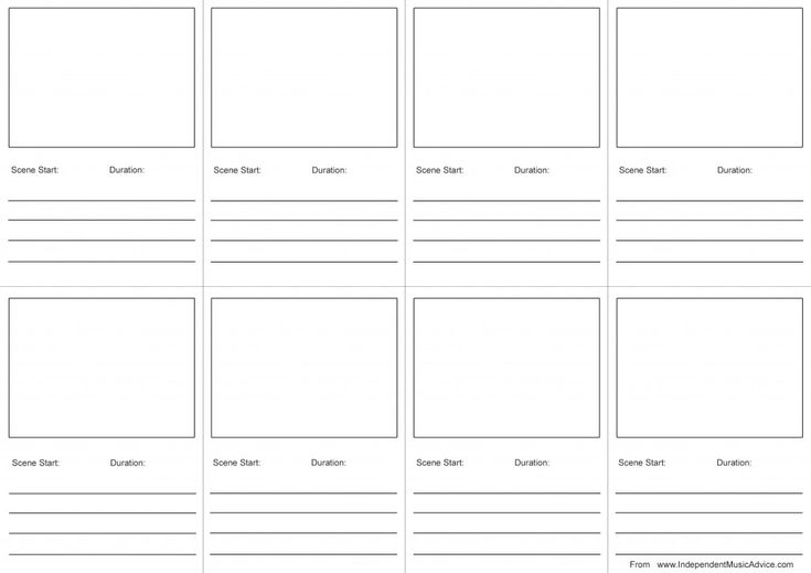 Video Storyboard Template music-video-storyboard-template-from - free storyboard templates