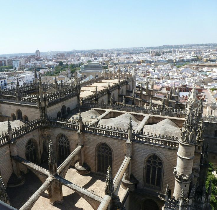 Sevilla. View of the city from the Cathedral belfry. #Spain #Sevilla #cathedral #city