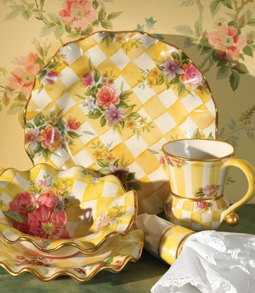 MacKenzie Childs Dinnerware I really like this & love the colors & style...