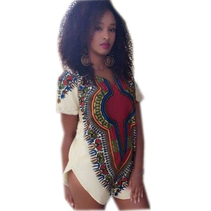 Women Side Split T-shirt Dress Tribal Pattern Aztec Vintage Dresses Above Knee Sexy Short Sleeve Bohemian Sundress 2015 Fashion