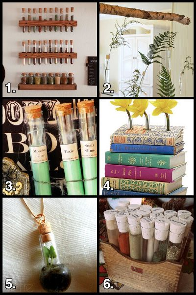 Test Tube Craft Roundup.... The question is- who has this many test tubes. The other question is- why do you have this many test tubes???