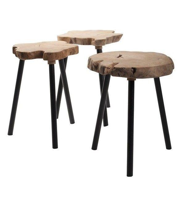 Table d'appoint en Teck au style très scandinave de la marque Zuiver sur MonDesign.com #table #design #inspiration #wood #teck #bois #style #interiordesignideas #ideas #idéesdéco