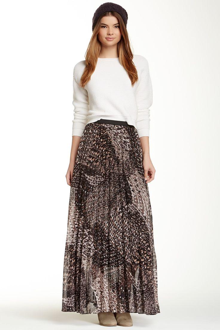 WallpapHer Pleated Chiffon Maxi Skirt  @nordstrom_rack
