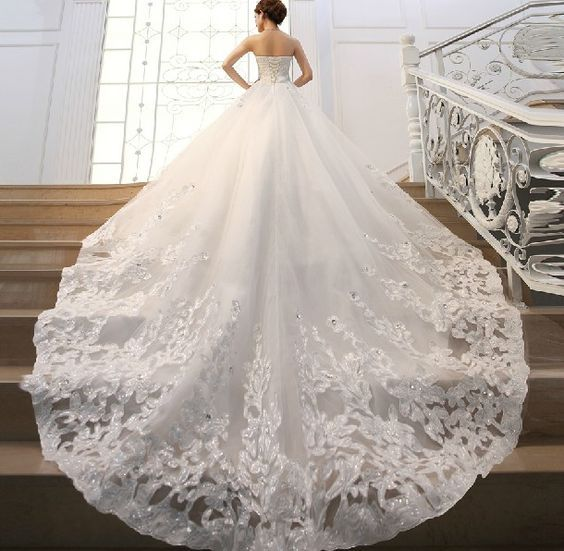 Best Bridal Gowns All About The Train Images On Pinterest