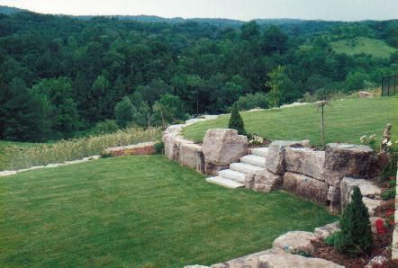 Steep sloped back yard landscaping ideas bing images for Terraced yard ideas