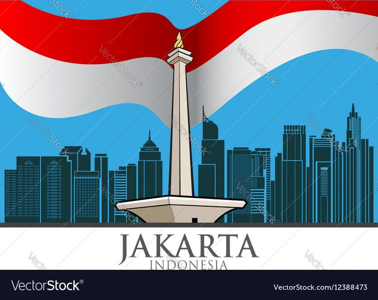 Vector illustration of the capital city of Jakarta, Indonesia. Download a Free Preview or High Quality Adobe Illustrator Ai, EPS, PDF and High Resolution JPEG versions.