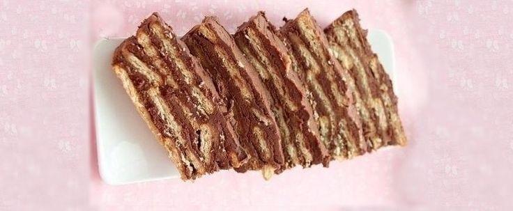 Tarta de galletas con chocolate - Revista CocinaRevista Cocina