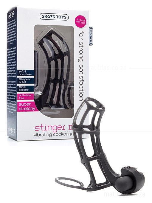 The stretchy silicone of the Stinger 2 Vibrating Sleeve makes it easy to put on and snug around your erection. It includes a scrotum ring for that fully enclosed feeling. This toy is perfect for bondage lovers, and gives him a firmer erection and a more intense climax. A bullet to the base sends incredible vibrations to his shaft, and her clitoris will love the added stimulation for intimate his and hers pleasure.