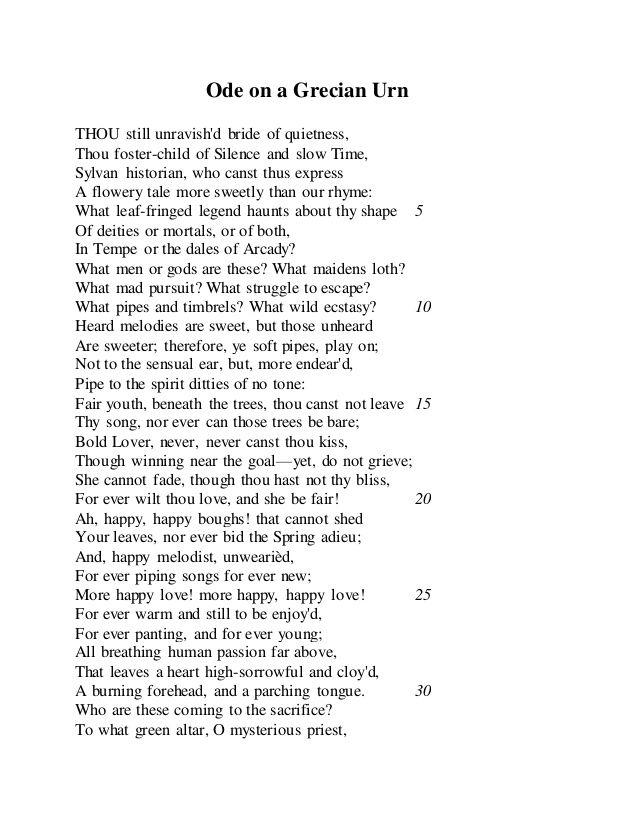 Ode on a grecian urn analysis pdf