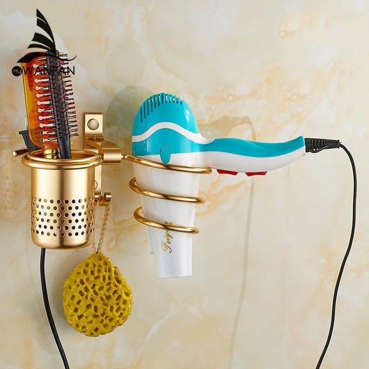 Support sèche-cheveux. Design : Conception simple et rangement de salle de bain…