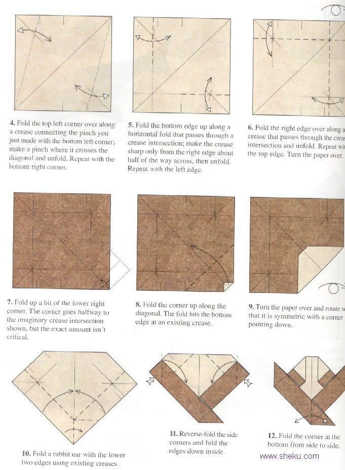 Origami koi instruction images for Origami koi fish tutorial