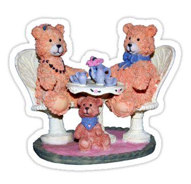 Teddy Bear Morning Tea Sticker by StickerNuts