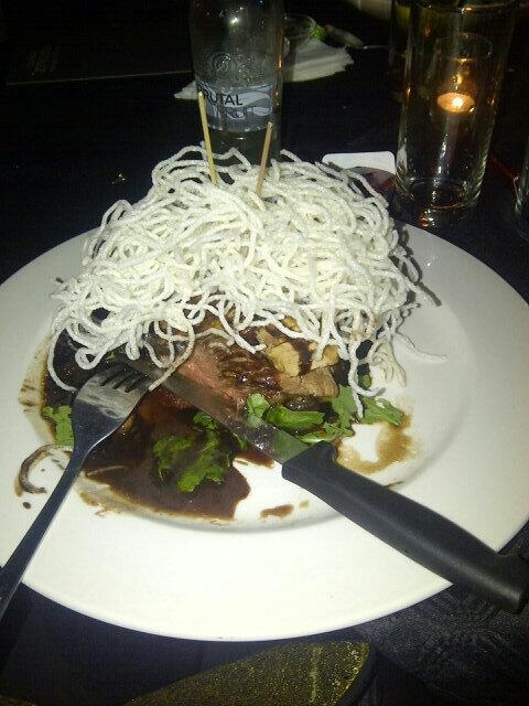 Madame Zingara's signature dish on your plate.... Chocolate Chilli Fillet..