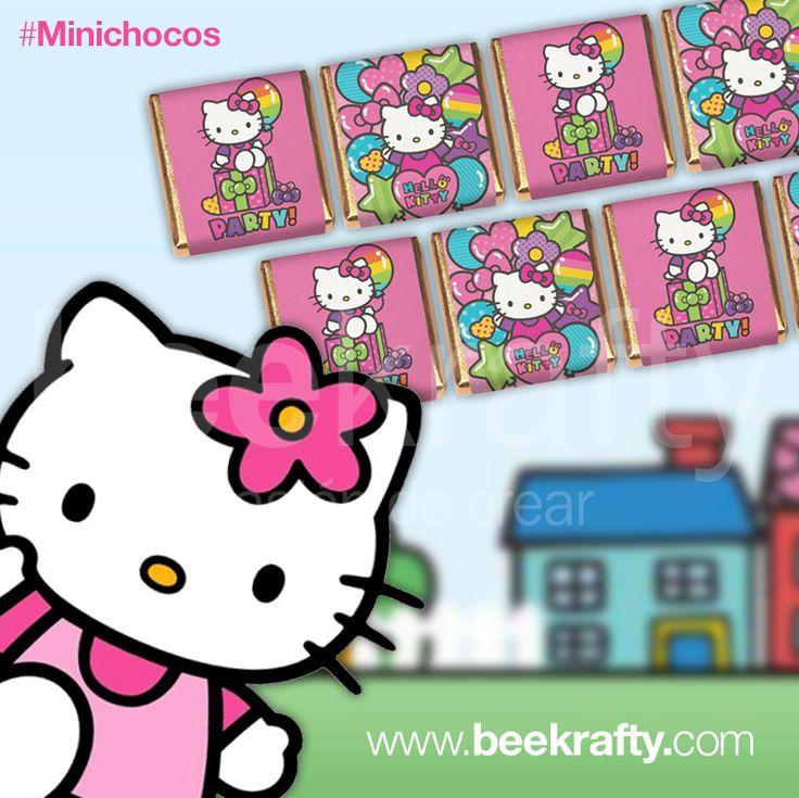 Para el cumple de Vicky hicimos estas hermosas chocolatinas de Hello Kitty.  En www.beekrafty conseguirás estas y muchas más. También las podemos personalizar con lo que quieras. #chocolatinas #personalizadas #beekrafty #pasionporcrear