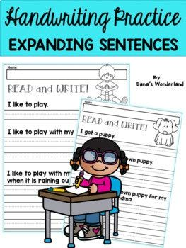 This product contains 20 sheets that will help your students improve their writing skills. The students will not only practice their handwriting but will also learn how to expand sentences. The skill of creating complex sentences is essential for writing constructed responses on standardized tests and great essays.