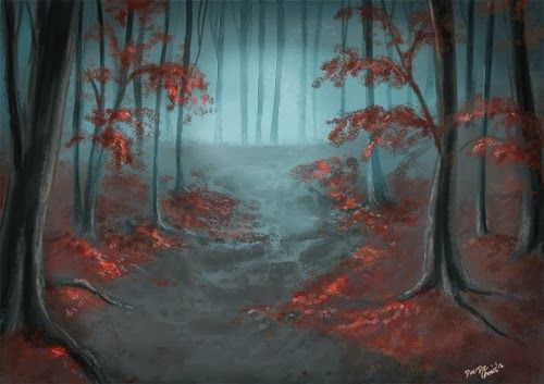 Gloomy forest - concept