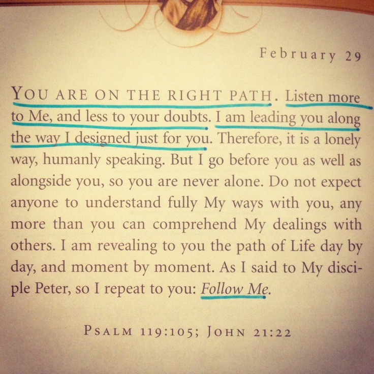 Jesus Calling - February 29 #Future. My favorite book right now.