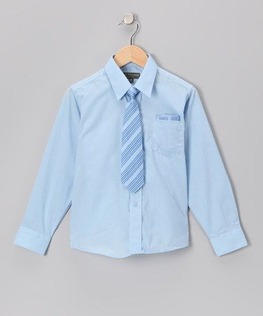 Take a look at this Baby Blue & Blue Shirt Set - Infant, Toddler & Boys by Angels New York on #zulily today!