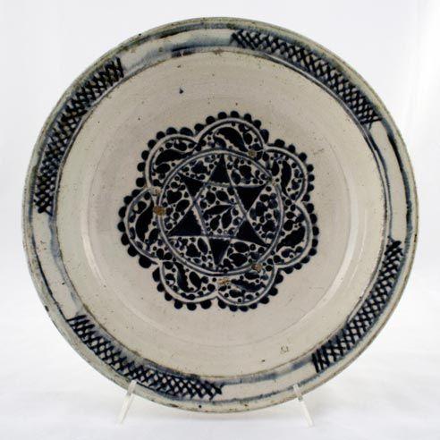 PLATE  Late 18th century h.: 7 cm d.(rim): 34 cm