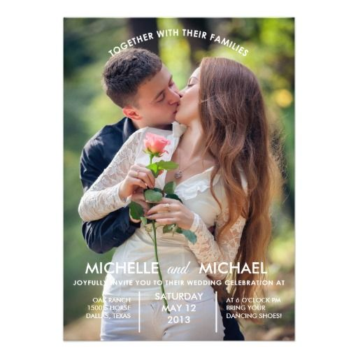 Don't let those engagement pictures go to waste, use this wedding invitation template with your engagement pictures!