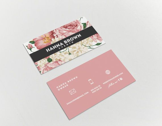 Hanna double sided business card  Instant by deideigraphic on Etsy