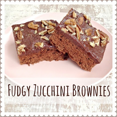 No one will know (not even you) that you snuck some healthy veggies into this deliciously decadent dessert.  Everyday is a Holiday: Fudgy Zucchini Brownies