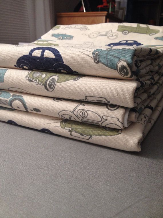 SALE Boys Nursery Curtain Panels Vintage Car by CmarieSews on Etsy, $120.00… ASH this is the same fabric that is on the chair.