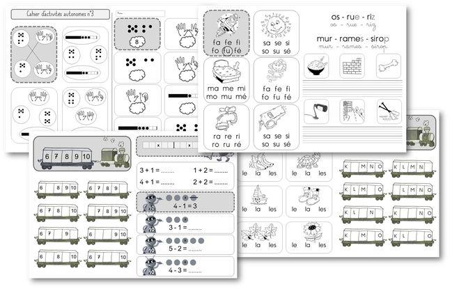 Petits cahiers d'autonomie en CP