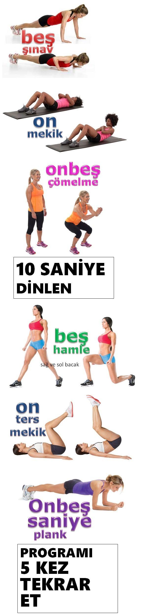 Günde sadece 10 dakikanızı ayırarak fit kalmak mümkün. Üstelik spor salonuna gitmeden ve hiçbir spor malzemesine ihtiyaç duymadan. Beş-on-onbeş egzersizini yapın yeter. Vücudun tüm kaslarının harekete geçtiği 10 dakikalık egzersiz ile istediğiniz fit görünüme sahip olabilir ve egzersizi günlük yaşamınızın parçası yaparak bu formunuzu koruyabilirsiniz.
