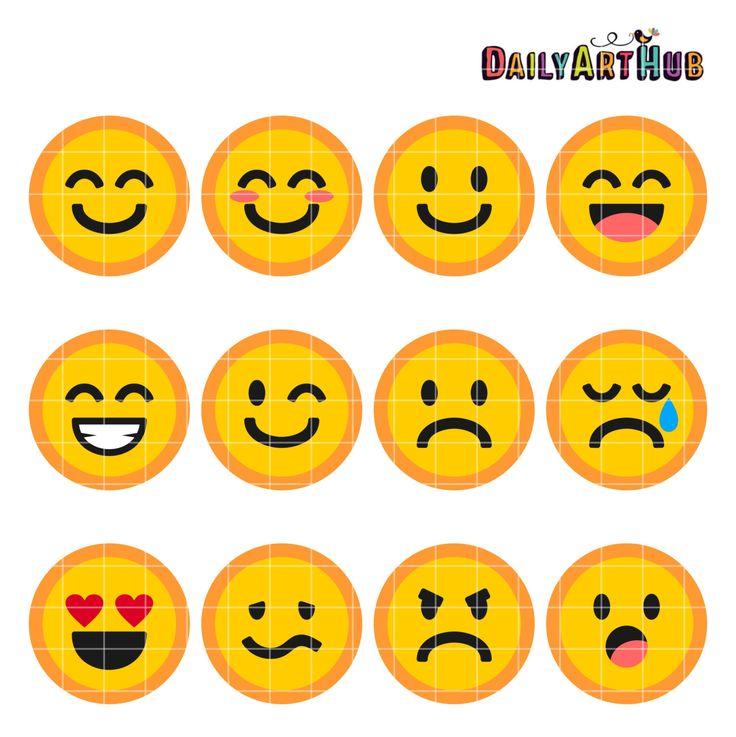 Emoticons Collage Clip Art Emoticons Symbols Clipart