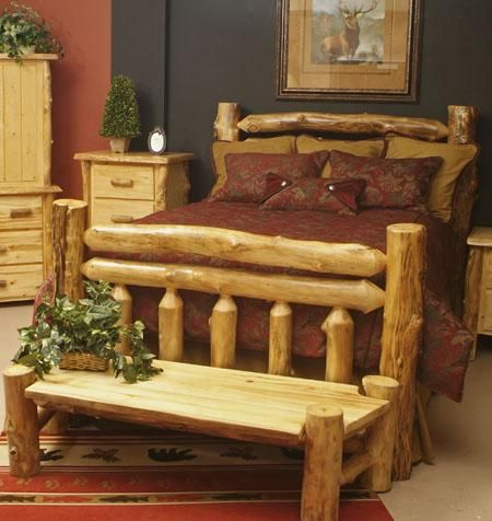 log bedroom set. Log bedroom set  I would love this entire if only we had the room 53 best Beds images on Pinterest Logs Rustic furniture and