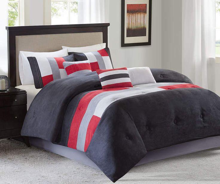 Canyon Red & Gray 7-Piece King Comforter Set at Big Lots.