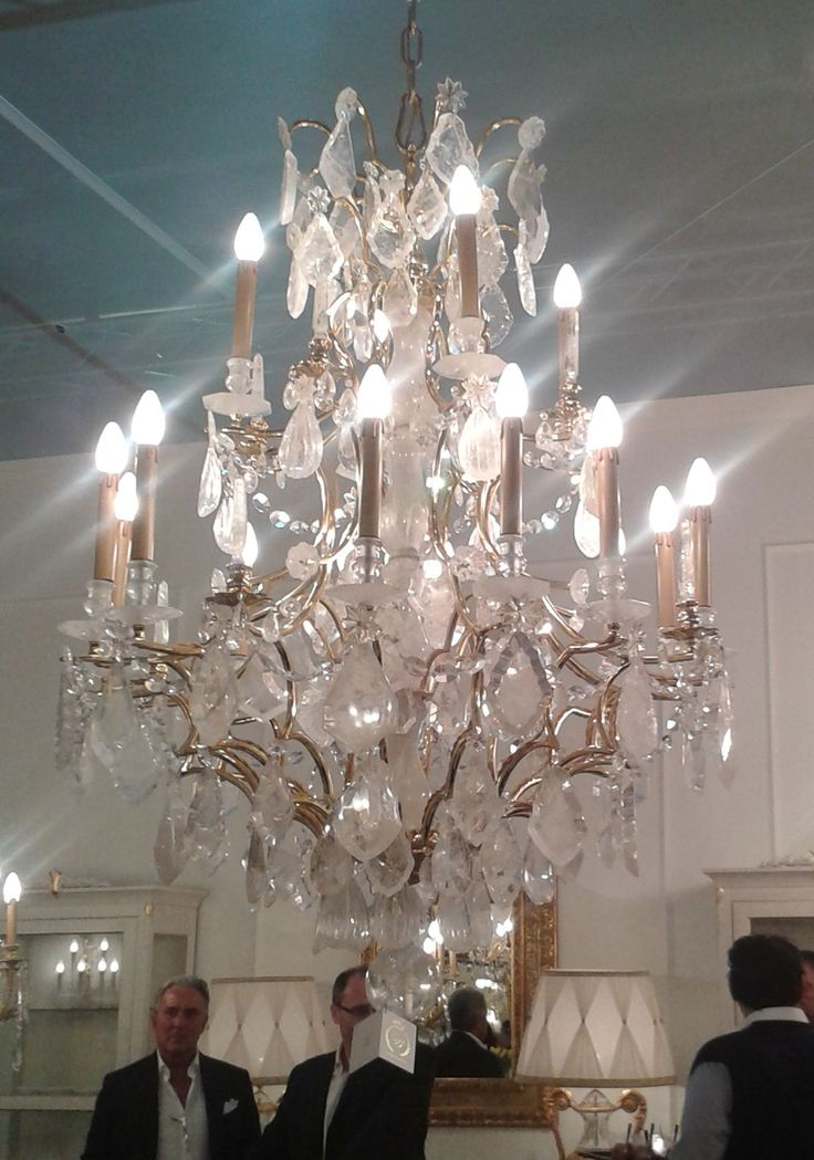 This rock crystal chandelier from Badari was