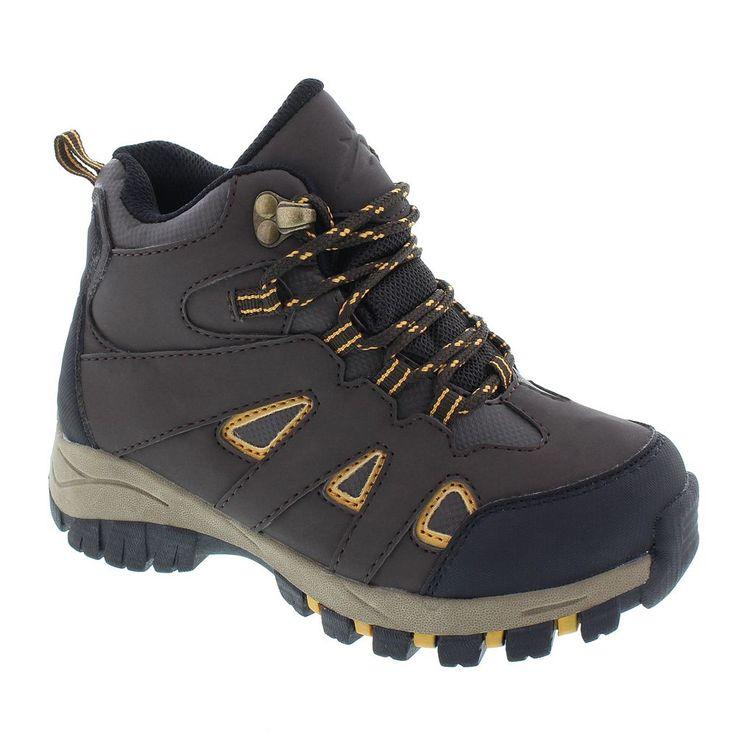 Deer Stags Drew Boys' Waterproof Hiking Boots, Size: medium (1), Dark Grey