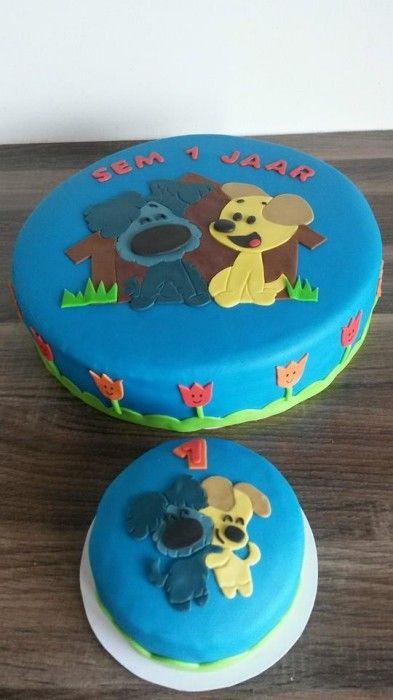 Woezel en Pip taart + meptaartje