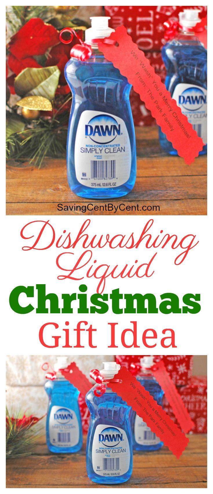 Inexpensive Dishwashing Liquid Christmas Gift Idea | Dishwashing ...