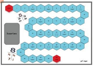 Splitsspel: speelbord + spelregels