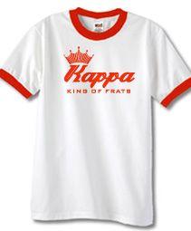 KAPPA KING OF FRATS  Item Id: PRE-KAYBUD2-WHITE-ST    Price: $39.00