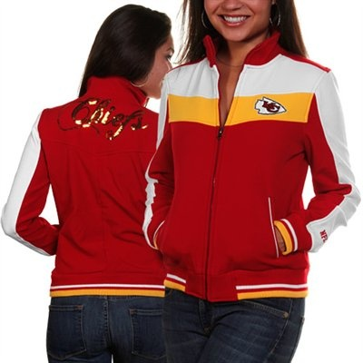 Kansas City Chiefs Ladies Red Bonded Softshell Full Zip Jacket