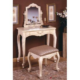 makeup+vanity | For an authentic and mystic look, an antique makeup vanity is a ...