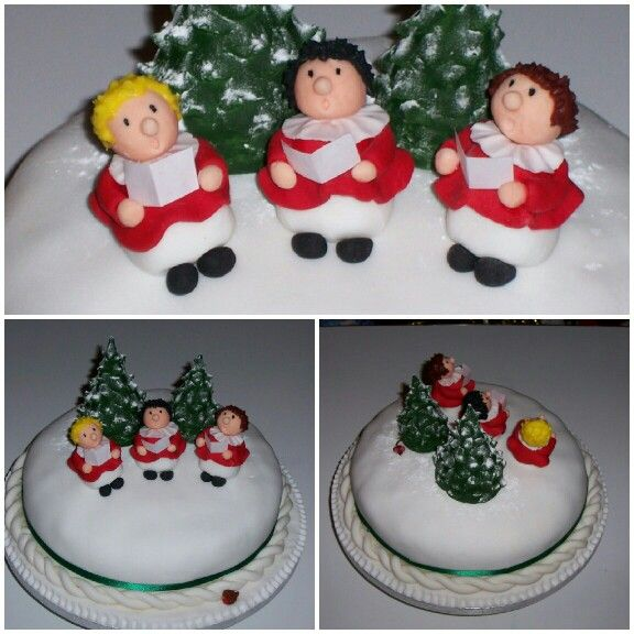 Christmas Carol Singers Decorations: 17 Best Images About Christmas Cakes. On Pinterest