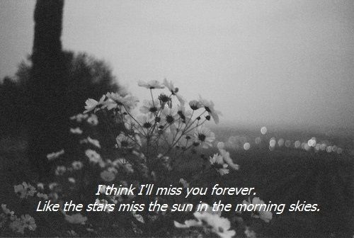 I will miss you forever until i see you so am stuck in these painful infinitely and hope we have a bigger better infinity