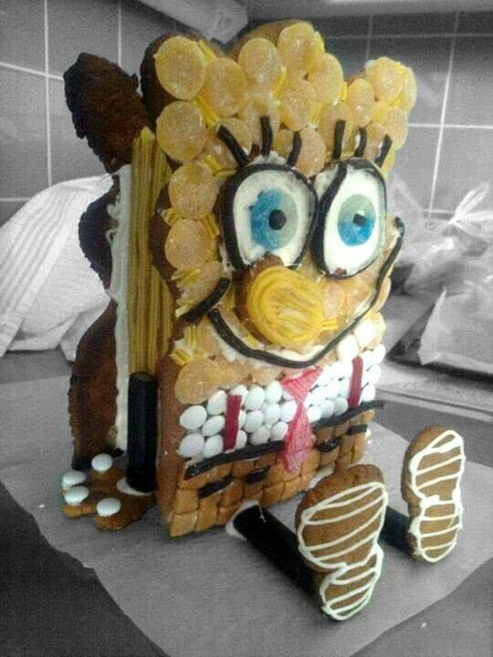 Moi, minä olen Paavo! Haluaisin olla ystäväsi. - by Uulevi -- Piparkakku, Joulu, Paavo Pesusieni, Gingerbread house, Christmas