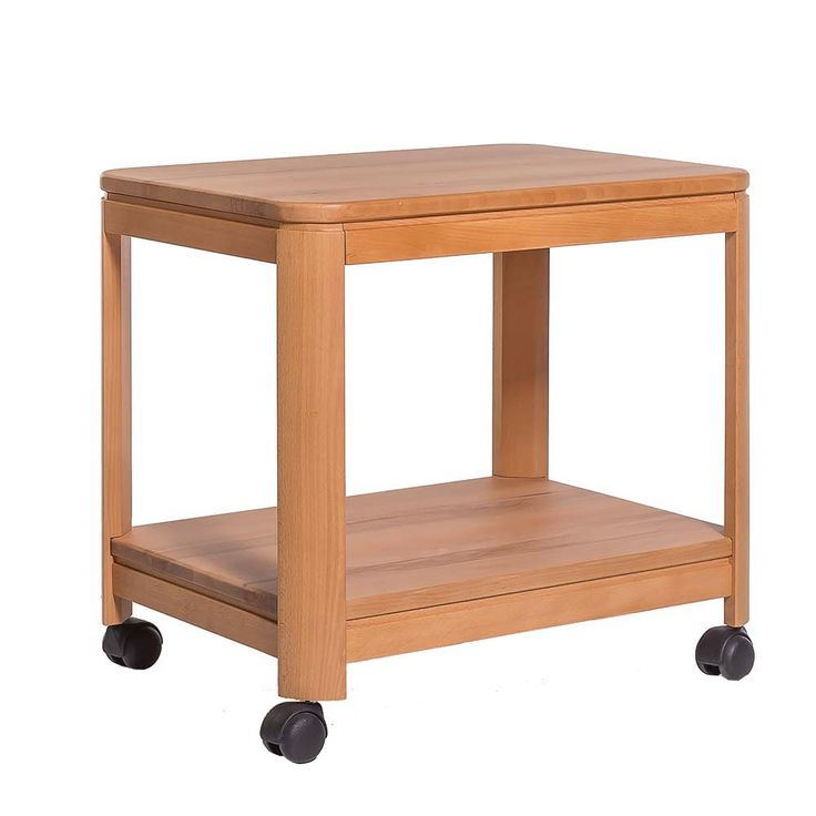 beistelltisch mit rollen kernbuche massivholz jetzt. Black Bedroom Furniture Sets. Home Design Ideas