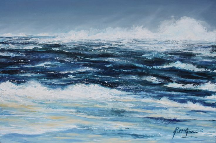 Atlantic storm from the shore by PoilinMcGowanFineArt on Etsy